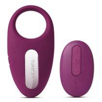 Фиолетовое эрекционное кольцо Winni Violet с вибрацией и пультом ДУ, цвет фиолетовый - Svakom