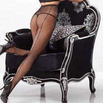 Колготки-сетка со стразами, цвет черный, размер S-M - Coquette Internatonal