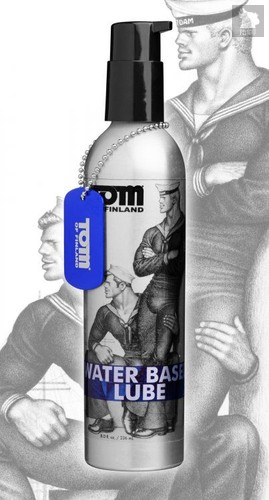 Лубрикант на водной основе Tom of Finland Water Based - 236 мл - XR Brands
