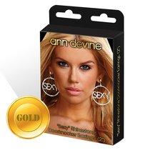 Круглые серьги SEXY, цвет золотой - Ann Devine
