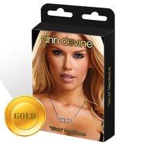 Цепочка с подвеской BITCH, цвет золотой - Ann Devine