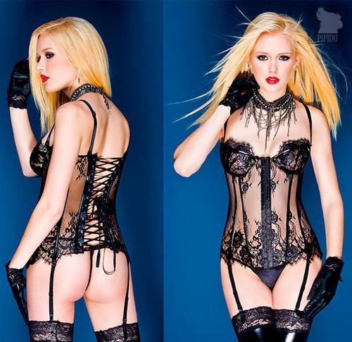 Бюстье Kali на косточках, цвет черный, M - Coquette Internatonal