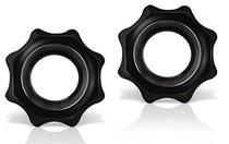Набор из 2 фигурных эрекционных колец Stay Hard Nutz, цвет черный - Blush Novelties