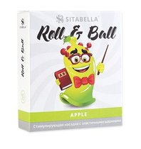Стимулирующий презерватив-насадка Roll & Ball Apple, цвет зеленый - Sitabella (СК-Визит)