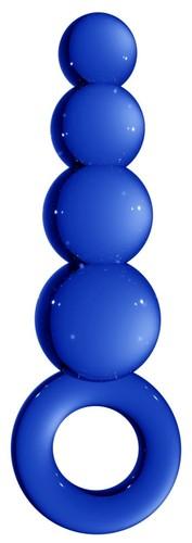 Синяя анальная пробка Chrystalino Tickler - 12 см., цвет синий - Shots Media