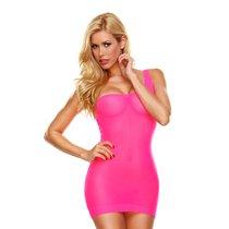 Облегающее полупрозрачное платье на одной лямке, цвет розовый, размер S-L - Hustler Lingerie