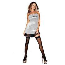 Клубное платье с надписью HUSTLER на груди, цвет серебряный, M-L - Hustler Lingerie