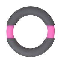 Серое эрекционное кольцо NEON STIMU RING 37MM GREY/PINK, цвет серый - Dream toys