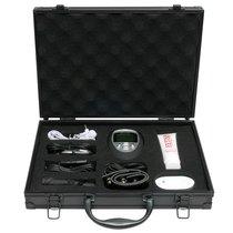 Набор для электростимуляции эрогенных зон Deluxe Shock Therapy Travel Kit, цвет белый/хром/черный - Pipedream