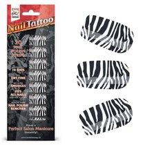 Набор лаковых полосок для ногтей Зебра NAIL FOIL, цвет черный - Erotic Fantasy