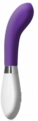 Фиолетовый вибратор для точки G или простаты Apollo - 20 см., цвет фиолетовый - Shots Media