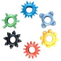 Набор из 6 разноцветных эрекционных колец, цвет разноцветный - Toyfa