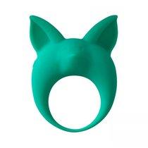 Зеленое эрекционное кольцо Kitten Kyle, цвет зеленый - Lola Toys