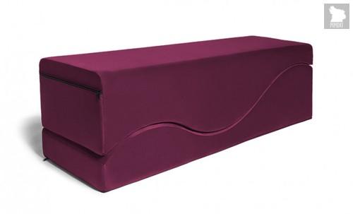 Подушка для любви Liberator Retail Equus Wave Velvish Merlot, цвет рубиновый - Liberator