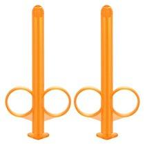 Набор из 2 оранжевых шприцов для введения лубриканта Lube Tube, цвет оранжевый - California Exotic Novelties