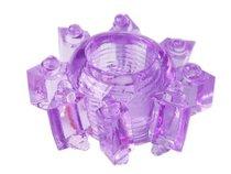 Фиолетовое гелевое эрекционное кольцо-звезда, цвет фиолетовый - Toyfa