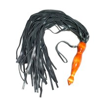 Флогер с деревянной, покрытой лаком ручкой, цвет коричневый/черный - Подиум