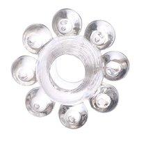 Прозрачное гелевое эрекционное кольцо-цветок, цвет прозрачный - Toyfa