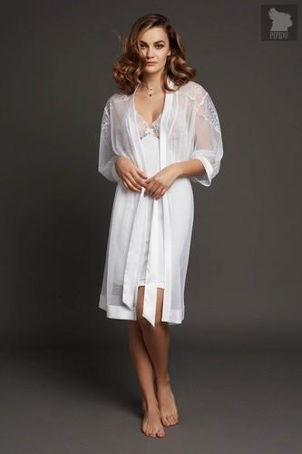 Легкий шифоновый халатик свободного кроя, цвет белый - Laete