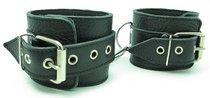 Кожаные наручники с пряжкой - БДСМ арсенал