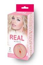 Мастурбатор-реалистик Real Woman с входом в виде вагины, цвет телесный - С-Маркет