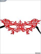 Маска «Бабочка», кружево, красная, P3289R, цвет красный - Penthouse