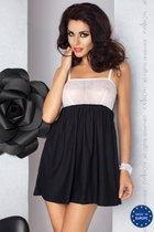 Сорочка Larisa, цвет белый/черный, S-M - Passion