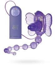 Вибратор бабочка Waterproof Venus Penis Stimulator с анальным стимулятором, цвет фиолетовый - California Exotic Novelties