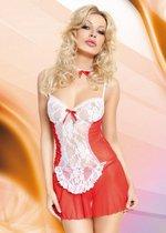 """Игровая сорочка """"Горничная Fifi"""", цвет красный, M-L - SoftLine Collection (SLC)"""