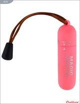 Розовая вибропуля со шнурком - 7 см. - Eroticon