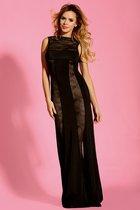 Сексуальное платье в пол для ношения без трусиков, цвет черный, S-M - Dolce Piccante