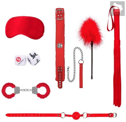 Красный игровой набор Introductory Bondage Kit №6, цвет красный - Shots Media