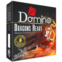 Ароматизированные презервативы Domino Dragon's Heart - 3 шт. - LUXLITE