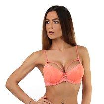 Персиковый бюстгальтер-оверлэй с push-up, цвет персиковый, размер 34C - Seven`til Midnight