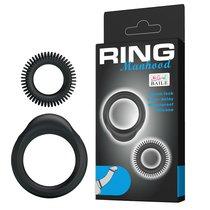 Набор эрекционных колец Ring Manhood, цвет черный - Baile