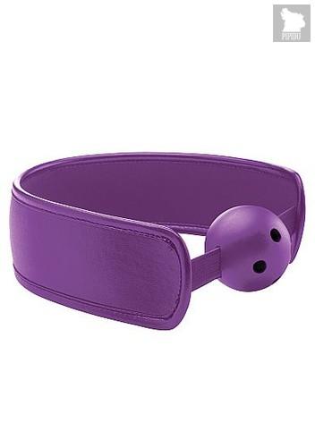Кляп Brace Balll Purple, цвет фиолетовый - Shots Media