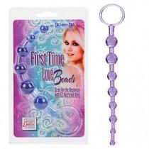 Анальная цепочка First Time Love Beads, цвет фиолетовый - California Exotic Novelties