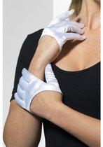 Ультракороткие атласные перчатки, цвет белый, S-L - Fever
