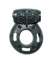 эрекционное кольцо с вибрацией Rings Axle-pin, цвет черный - Lola Toys