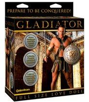Секс-кукла Gladiator Love Doll с языком и фаллосом, с вибрацией, цвет телесный - Pipedream