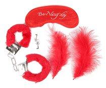 Набор красных БДСМ-аксессуаров из 4 предметов, цвет красный - Bioritm