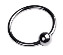 Кольцо на головку пениса размера M, цвет серебряный - Toyfa