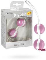 Вагинальные шарики Joyballs Duo, цвет белый/розовый - Joy Division