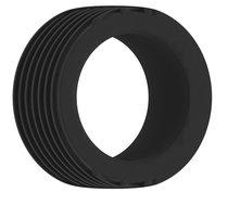 Чёрное эрекционное кольцо No.42 Cockring, цвет черный - Shots Media