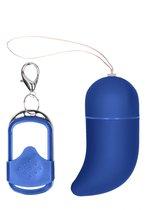 Синее виброяйцо Small Wireless Vibrating G-Spot Egg, цвет синий - Shots Media