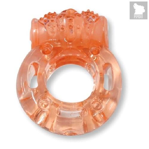 Эрекционное виброкольцо Luxe VIBRO Африканский Эль Дьябло, цвет оранжевый - LUXLITE