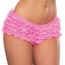 Помпезные шортики с рюшами, цвет розовый, размер S-L - Hustler Lingerie