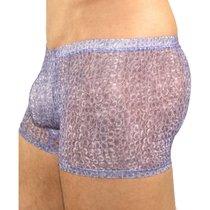 Трусы мужские хипсы фиолетовые с рисунком, цвет фиолетовый - Romeo Rossi