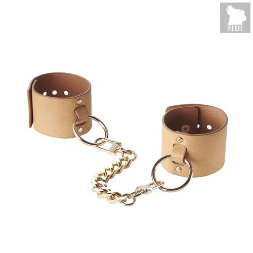 Bijoux Браслеты - наручники Wide Cuffs коричневые - Bijoux Indiscrets