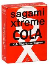 Ароматизированные презервативы Sagami Xtreme COLA - 3 шт. - Sagami